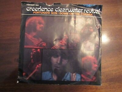 Creedence Clearwater Revival Fortunate Son Down On The Corner picture sleeve 45