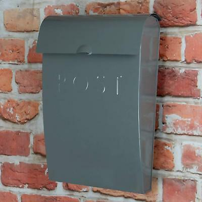 Outdoor Home Wall Mounted Letter/Postbox Lockable Steel Mail box Weatherproof