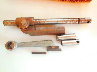 Vintage Armstrong # 10 Boring Bar Lathe Turning Tool Holder With Tools