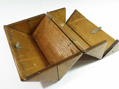 RefinishedAntique Singer Sewing 1889 Oak Puzzle Box — No Attachments