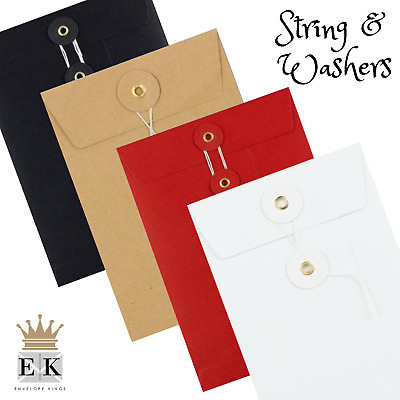 A6 C6 Dl A5 C5 A4 C4 String & Tie Envelopes String & Washers String & Button