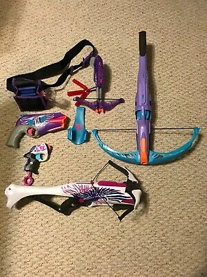Lot Of 5 Nerf Rebelle Guns And Crossbows