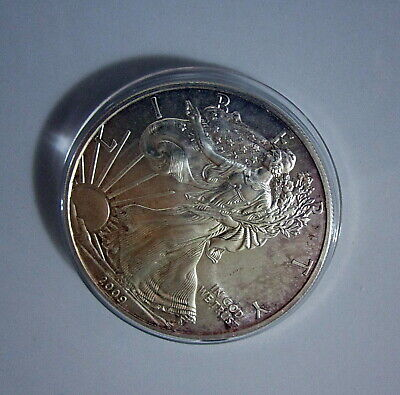 2009 American Eagle Silver Dollar * MS ++  Mottled Tone fm WP Mint!
