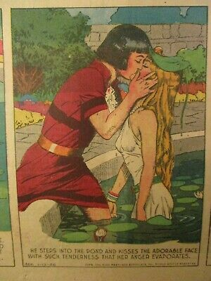 4 Pg Sunday Color Comics Prince Valiant Proposes.to Aleta  Rupp Of Kentucky Ad