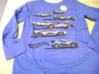 Boys  Long Sleeve Shirt  Hot Wheels  Size  5T New  Cool Style