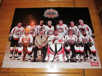 2005 Poster of LES LEGENDES - LES BOYS 4 Mike Bossy, Lafleur, Bourque.. 17x21in.