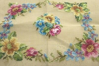 New & Part Worked,Vintage Floral Tapestry. Piano Stool, Box, Screen Or Frame