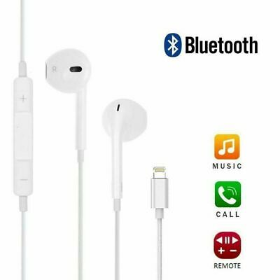 Wired Bluetooth Stereo Headphones Earphones Lightning For iPhone 7 8+ Plus XS XR