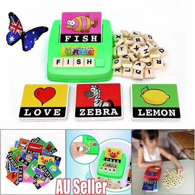 Literacy Scrabbler Early Education Puzzle Toys Gift JO