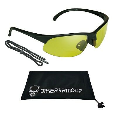 Yellow Bifocal Reader Safety Night Driving Motorcycle Shooting Golf HD Glasses