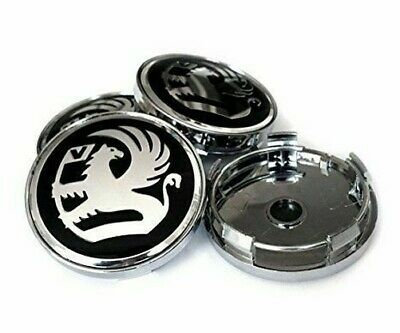 4x OPEL CENTRALE CERCHI IN LEGA HUB CAPS Black-Chrome 60mm Adam Corsa Astra VXR