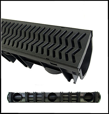 1 x Drainage Channel Fernco Heelguard 1m Length Storm Drain Channel Linear 13cm