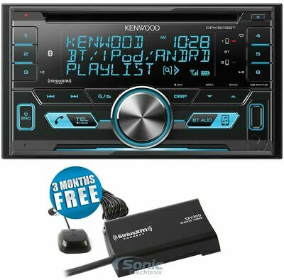 Kenwood DPX9705S 2 DIN Bluetooth In-Dash Car Stereo Receiver + SiriusXM Tuner