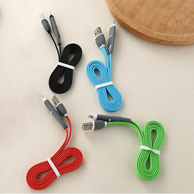 2in1 Micro USB Data Charger Cable For iPhones Samsung IOS Android Phone Charging