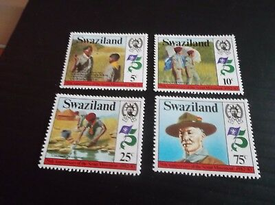 Swaziland 1982 Sg 416-419 75Th Anniv Of Boy Scouts Mnh