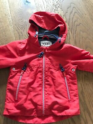 Next Red Boys Summer Coat Size 9-12 Months