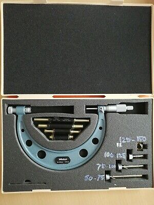 Mitutoyo 104-161A Interchangeable Anvil Micrometer 50-150mm in case