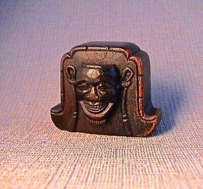 Rare 19th Century Signed Japanese Netsuke of a Roof  tile