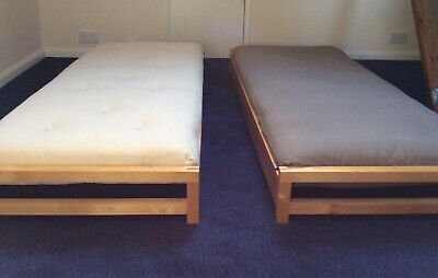 Futon Company Solid Birch Stacking Beds