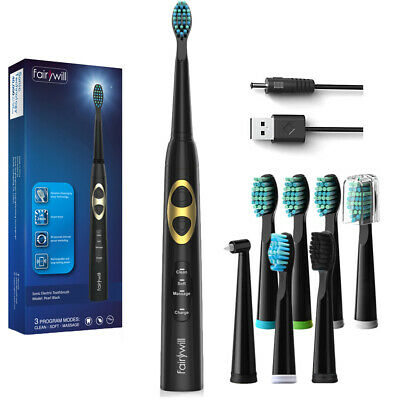 Sonic Care USB Rechargeable Fairywill Electric Toothbrush FW917 3 Optional Modes