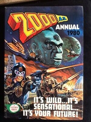 2000AD Annual 1980 Hardback Book Judge Dredd Robusters Tharg Loch Ness Monster