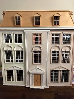 Large 12 Room Victorian Dolls House 1:12 Scale Fully Furnished