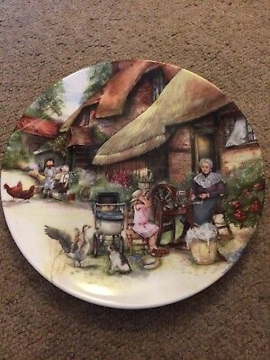 """Royal Doulton """"The Spinner"""" by Susan Neale Old Country Crafts Display Plate"""