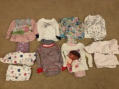 #6 Girl 2-3 year old clothes bundle 8 pyjamas