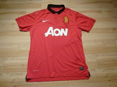 f7b899413 MENS RED NIKE Manchester United Home football shirt 2013 - 2014 Size ...