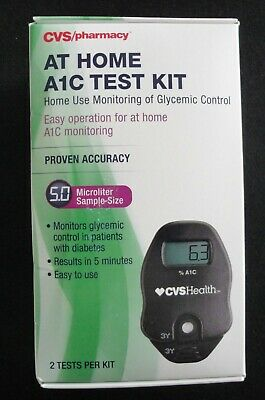 Cvs - At Home A1C Test Kit (Exp Date 1/8/17)  #3059   (B25)