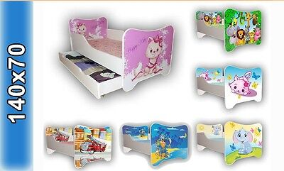 Children Bed, Bed For Girls Kids with mattress 140x70cm + drawer + Pillow