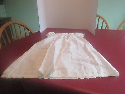 White Christening Dress For Baby Or Doll