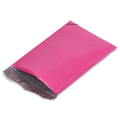 #5 Pink Color 10.5x16 Poly Bubble Mailers Envelopes Shipping Bags 25 100 To 1000