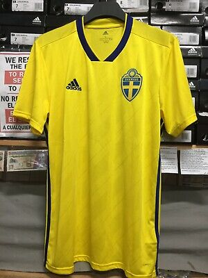Adidas Sweden Home Jersey 2018-19 Yellow Blue Size Extra Large Only 4260078e8