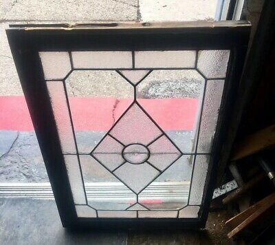 Rare antique Original Architectural Bullseye Roundel Leaded glass window