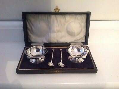 Vintage Silver Plated EPNS Salts And Spoons