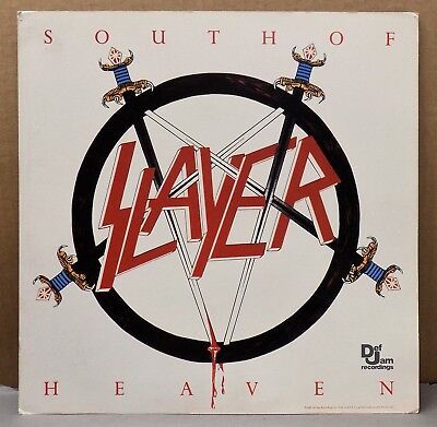 Record release 2-sided promo ad poster SLAYER SOUTH OF HEAVEN Def Jam 1987 metal