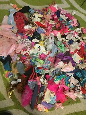 Barbie Clothing Lot. Dresses Skirts Pants Costumes And More. Some Vintage.