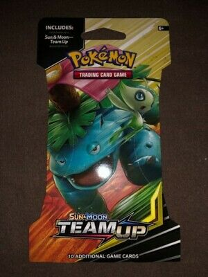 NEW! Pokemon Sun and moon Team Up TVG  Lot of 14 sealed packs card game