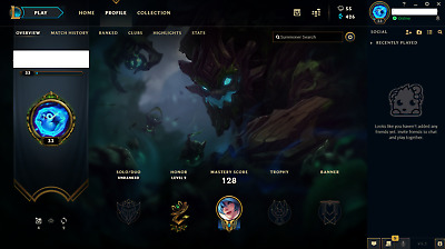 League of Legends Account - LOL - NA - Unranked - 30 Champs - 7 skins