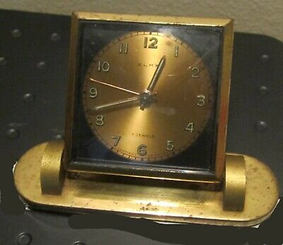 Vintage Elma German Desk Alarm Clock Works