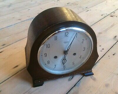 Antique Art Deco Mantel Clock,SMITHS ENFIELD,Striking,Brass Movement,Winding Key