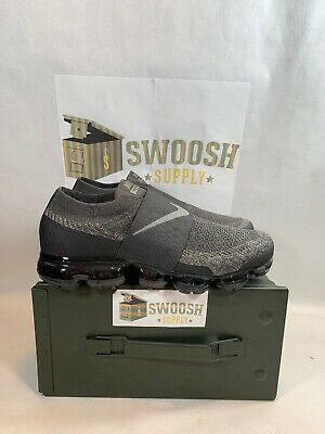 Nike Air Vapormax Flyknit Moc Midnight Fog Stucco Grey Size 9.5 Rare AH3397-013