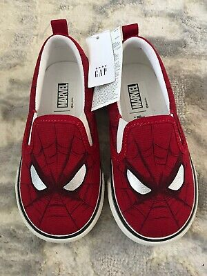Baby Boy Baby Gap Spider Man Marvel Shoes Size 7 Toddler New With Tags
