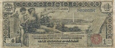 1896 $1 Silver Certificate ~ Educational Series ~ Bold And Sharp Detailed Note