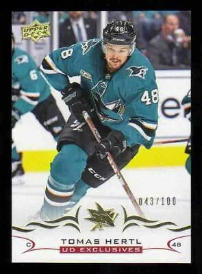 2018-19 Upper Deck Series 2 UD Exclusives /100 TOMAS HERTL San Jose Sharks