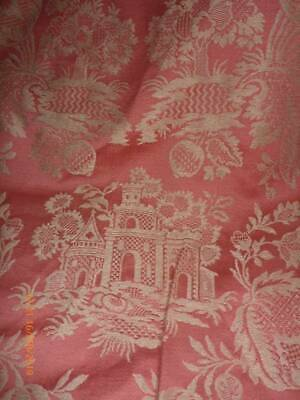 Fabulous Unused Vintage Fabric Possibly Leon France Silk Brocade Chateau 9 Mtrs