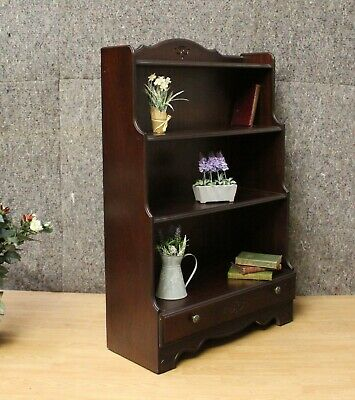 Reproduction Mahogany Waterfall One Drawer Bookcase