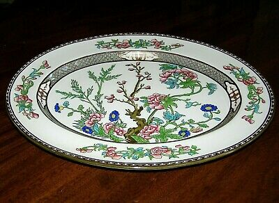 "Vintage Coalport ""Indian Tree"" Multicolor Oval 15"" Serving Platter - Perfect"