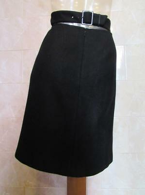 Gorgeous ALAIA Black Wool/Cashmere Straight Skirt w/Sexy Back Belt Detail - 38/4